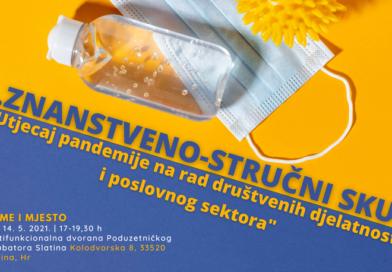 """1. znanstveno-stručni skup """"Utjecaj pandemije na rad društvenih djelatnosti i poslovnog sektora"""""""